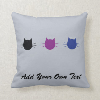 Custom Cat Personalised Design Gift Cushion