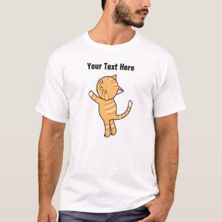 Custom Cat T-shirt Cute Orange Tabby Cat Hug Tee