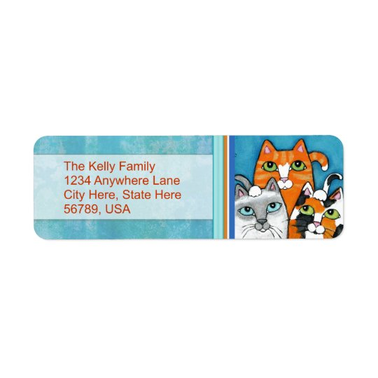 Custom  Cats Return Address Labels