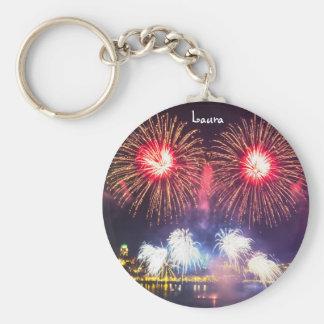 Custom Celebration Fireworks Keychain