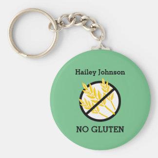 Custom Celiac or Wheat Allergy Personalized Kids Keychain
