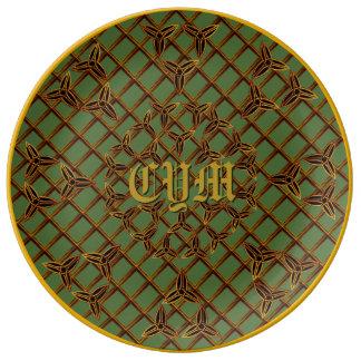 Custom Celtic Designer Plate Porcelain Plates