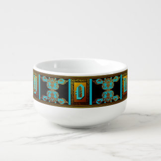 Custom Celtic Monogram Bowl Soup Mug