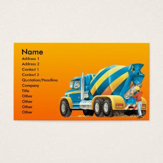 Custom Cement or Concrete Mixer Construction Business Card