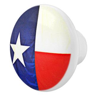 Custom Ceramic Knob of Texas Flag