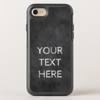 Custom chalkboard print Otterbox iPhone 7 case