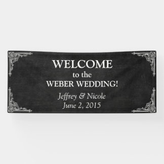 Custom Chalkboard Wedding Banner
