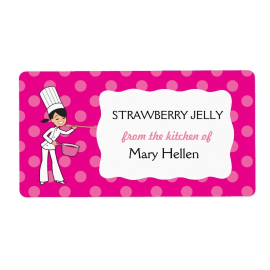 "Custom Chef Adhesive Label ""From the Kitchen"""