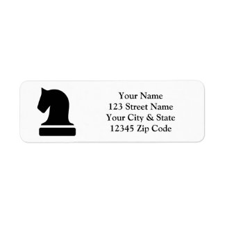 Custom chess piece logo return address labels