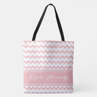 Custom Chevron Zig Zag Tote for Julie