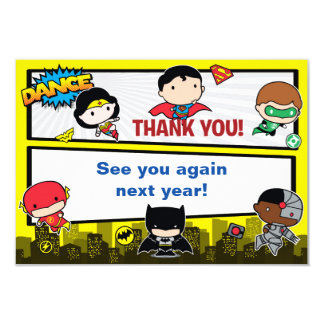 Custom Chibi Justice League Thank You Card