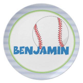 Custom Children's Plate- Baseball - Sports Plate
