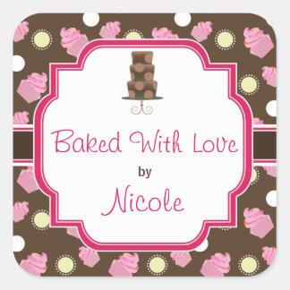 Custom Chocolate Cupcake and Cake baking Stickers