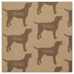 Custom Chocolate Lab Dog Fabric