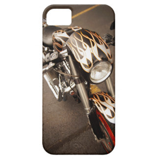 Custom Chopper with Flames iPhone 5 Case