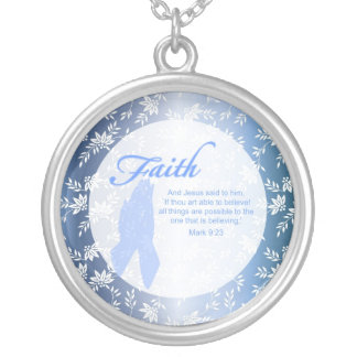 Custom Christian Necklaces - Round