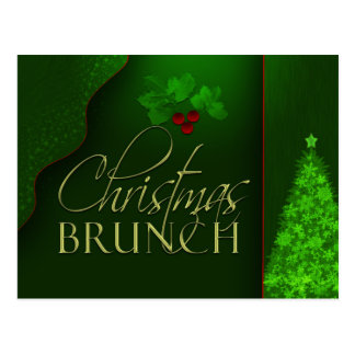 Custom Christmas Brunch invitation Postcard