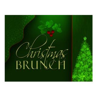Custom Christmas Brunch invitation Postcard