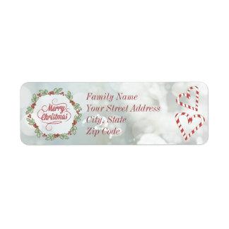 Custom Christmas Candy Cane Return Address Labels