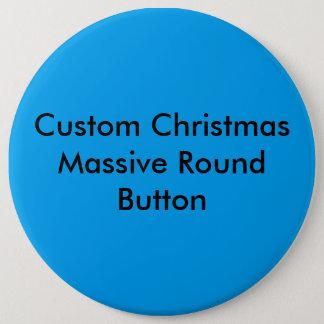 Custom Christmas Colossal Round Button