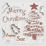 Custom Christmas Cookie Gift Stickers