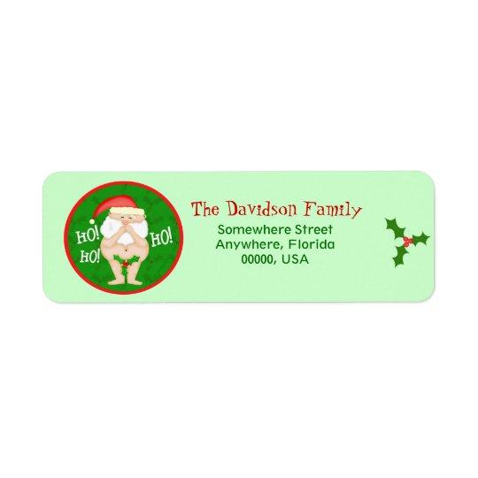 Custom Christmas Funny Return Address Labels