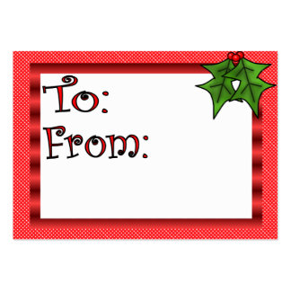 Custom Christmas Gift Tag Business Cards