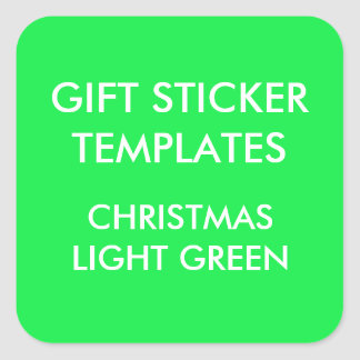 Custom CHRISTMAS GREEN SQUARE Large Gift Stickers