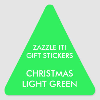 Custom CHRISTMAS GREEN TRIANGLE Card Gift Stickers