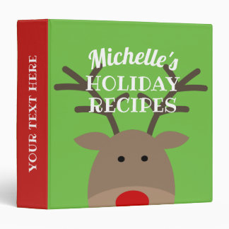 Custom Christmas Holiday recipe binder cook book
