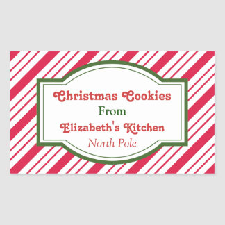 Custom Christmas Kitchen Stickers