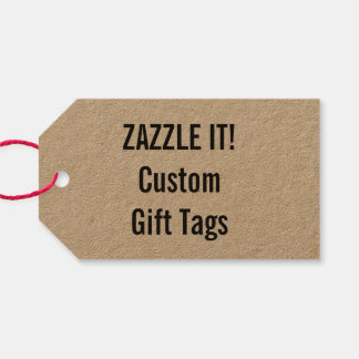 Custom Christmas Kraft Gift Tag Blank Template Pack Of Gift Tags