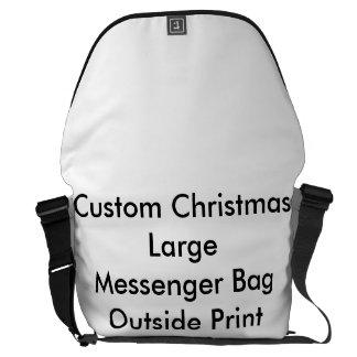 Custom Christmas Large Messenger Bag Outside Print