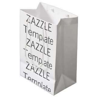 Custom Christmas MEDIUM GLOSSY Gift Bag Blank Medium Gift Bag