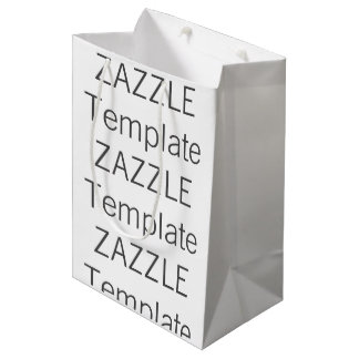 Custom Christmas MEDIUM MATTE Gift Bag Blank