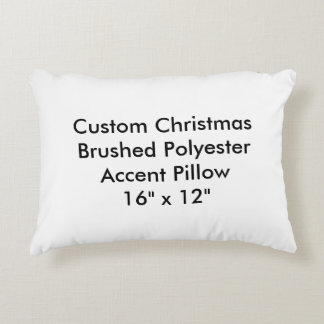 """Custom Christmas Polyester Accent Pillow 16""""x12"""""""