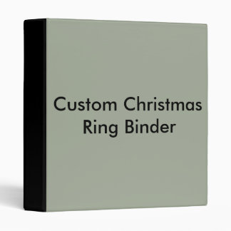 Custom Christmas Ring Binder