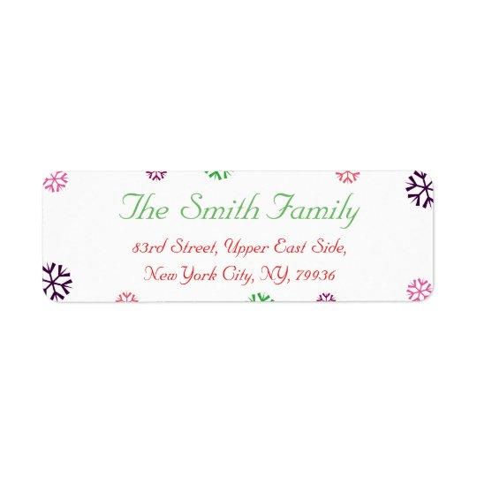 Custom Christmas Snowflakes Return Address Label