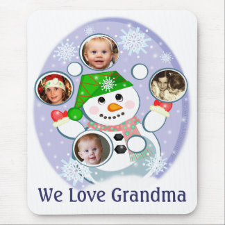 Custom Christmas Snowman Juggler Mouse Pad