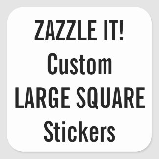 Custom Christmas SQUARE Stickers Blank Template