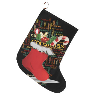 Custom Christmas Stocking With a nice candy cane