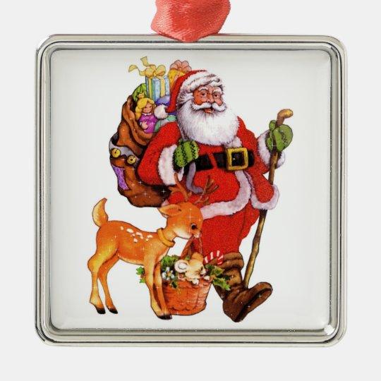Custom christmas tree metal ornament zazzle