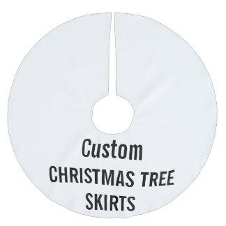 Custom Christmas Tree Skirt Blank Template Brushed Polyester Tree Skirt