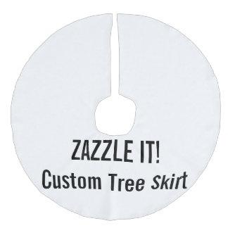 Custom Christmas Tree Skirt Blank Template Faux Linen Tree Skirt