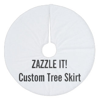 Custom Christmas Tree Skirt Blank Template Fleece Tree Skirt