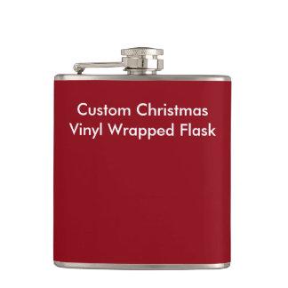 Custom Christmas  Vinyl Wrapped Flask