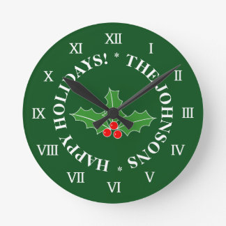 Custom Christmas wall clock for the Holidays