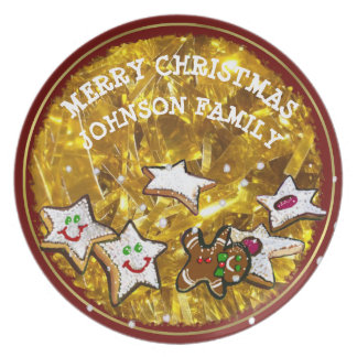 CUSTOM CHRISTMAS WISHES GINGERBRED MAN COOKY PLATE