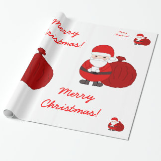 Custom Christmas Wrapping Paper With Santa Claus