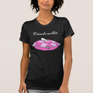 Custom Cinderella Slipper on Pink Vintage Art Tee